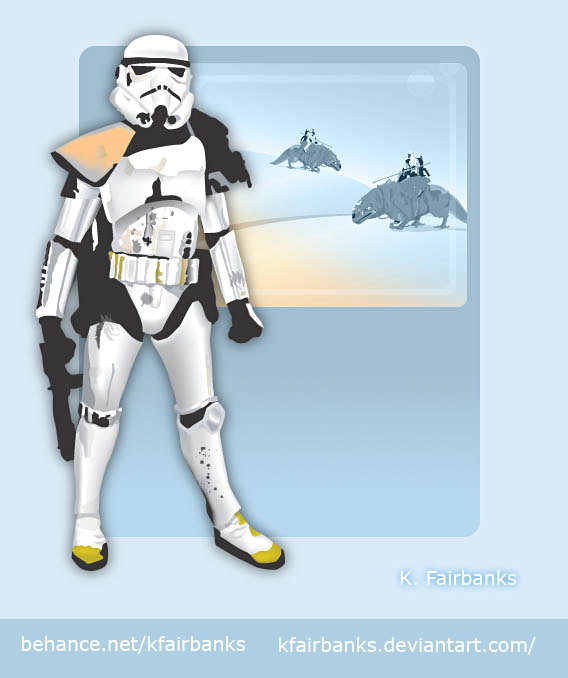 Vector drawing Sandtrooper by K. Fairbanks