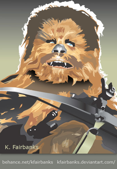 Vector drawing of Chewbacca by K. Fairbanks