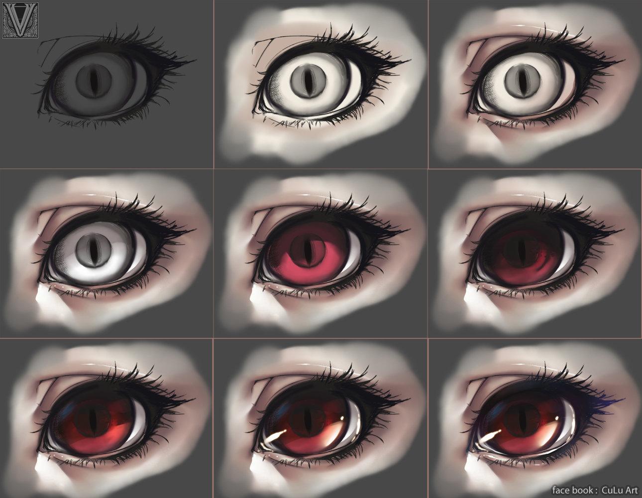ArtStation , tutorial eyes ( my style ), CuLu Artwork