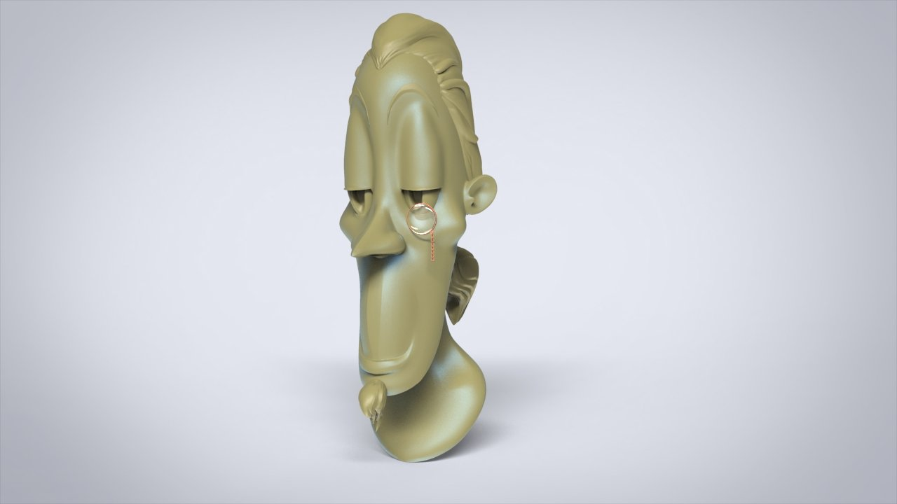 Daniel ajagbe stylized male bust study 200