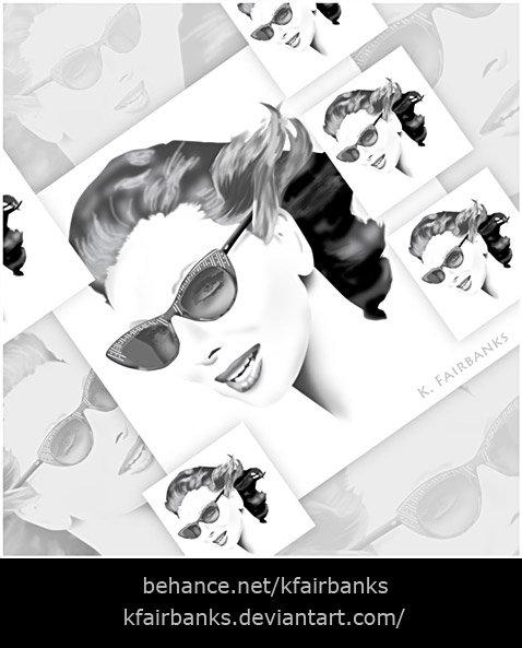 Woman in Sunglasses (digital painting) by K. Fairbanks