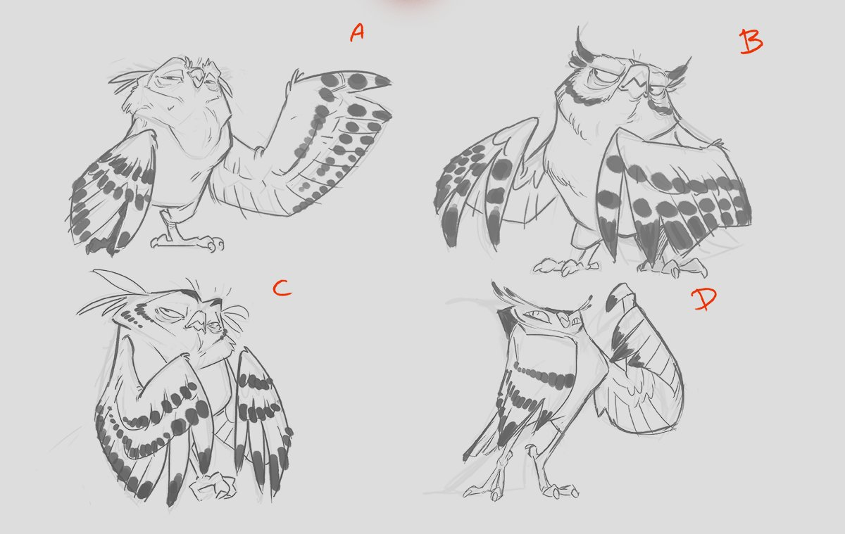 James castillo bird sketchs 03