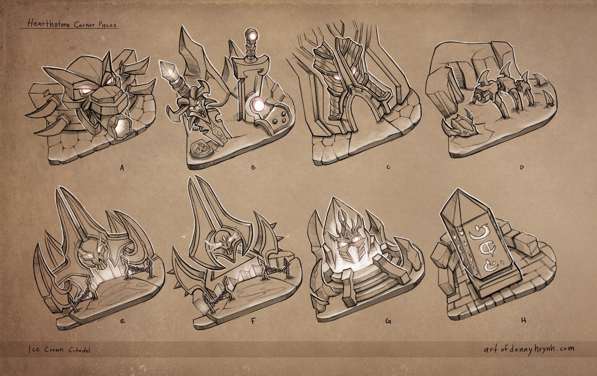 Concepts of cornerstones for Ice Crown Citadel.