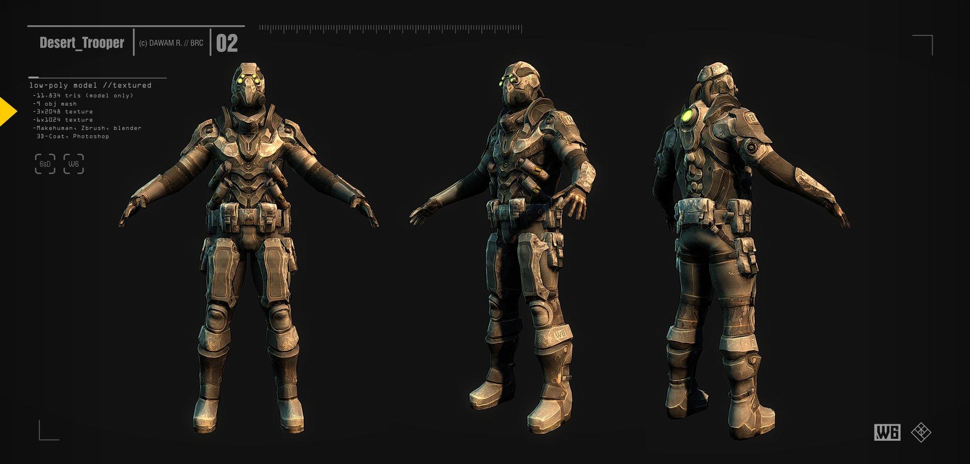 ArtStation - Desert Trooper, B R C