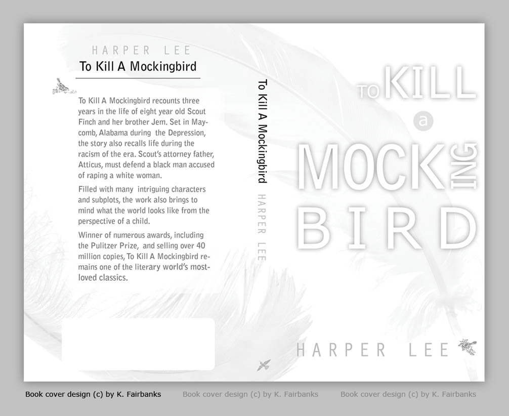 Print Project: Book Cover Design by K. Fairbanks / Media: InDesign (for text and page layout); Photoshop for photo editing
