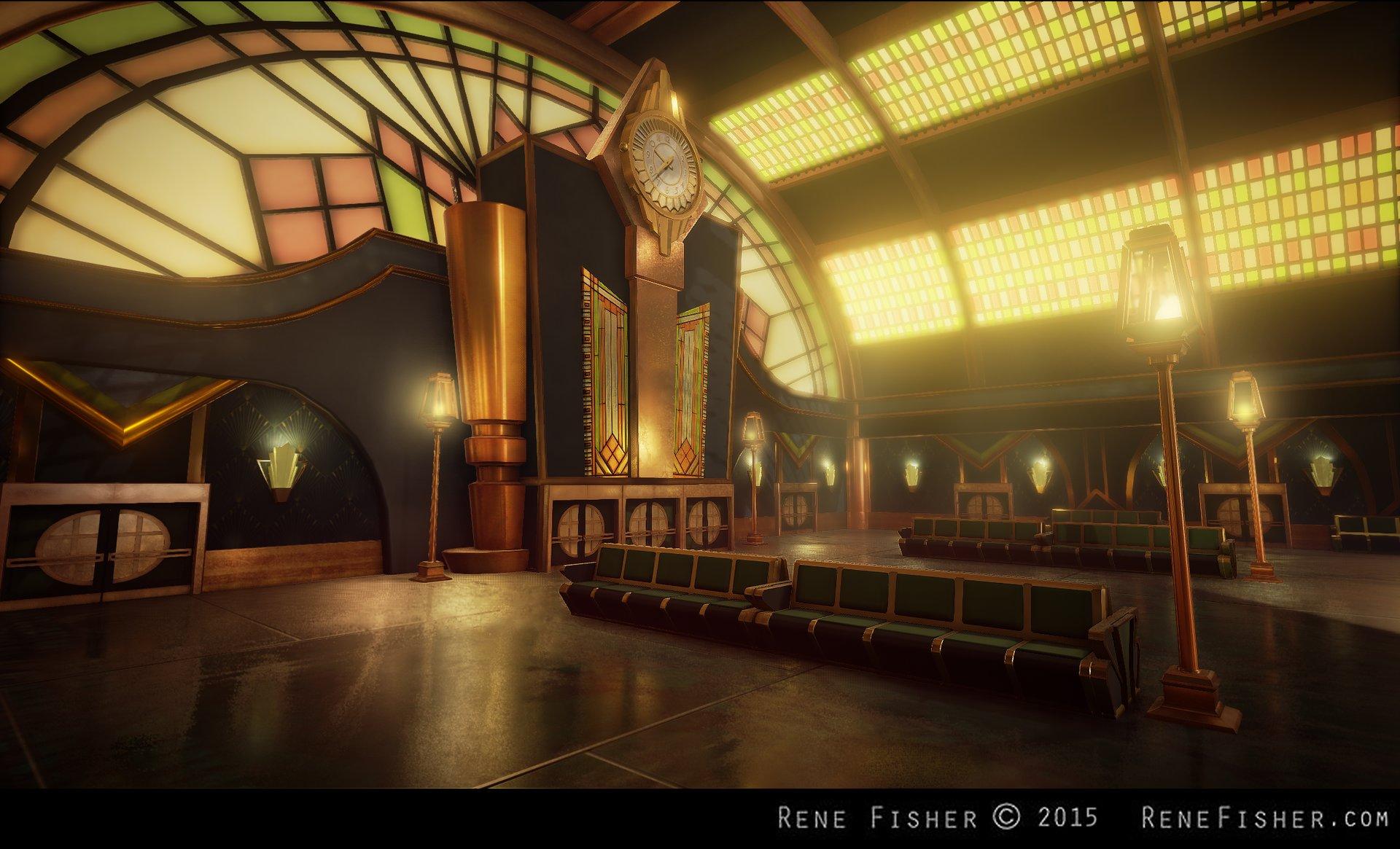 Rene fisher art deco train station for Art deco train interior