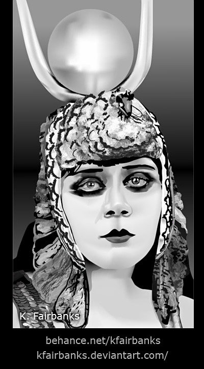 Theda Bara as Cleopatra (vector drawings) by K. Fairbanks