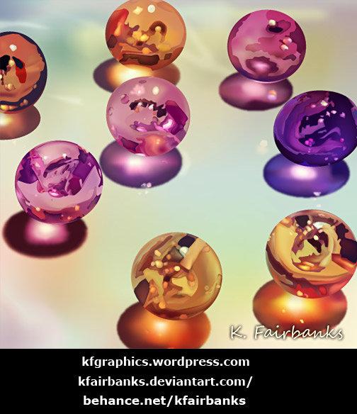 Spheres (vector drawing) by K. Fairbanks