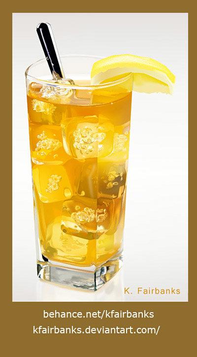 Iced Tea (vector drawing) by K. Fairbanks