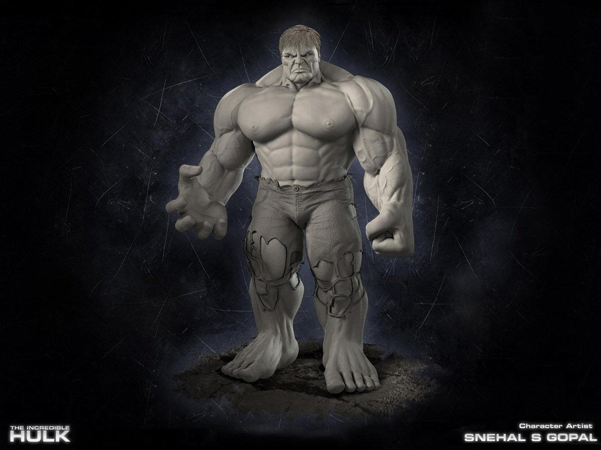 Snehal s gopal 02 hulk clayrender
