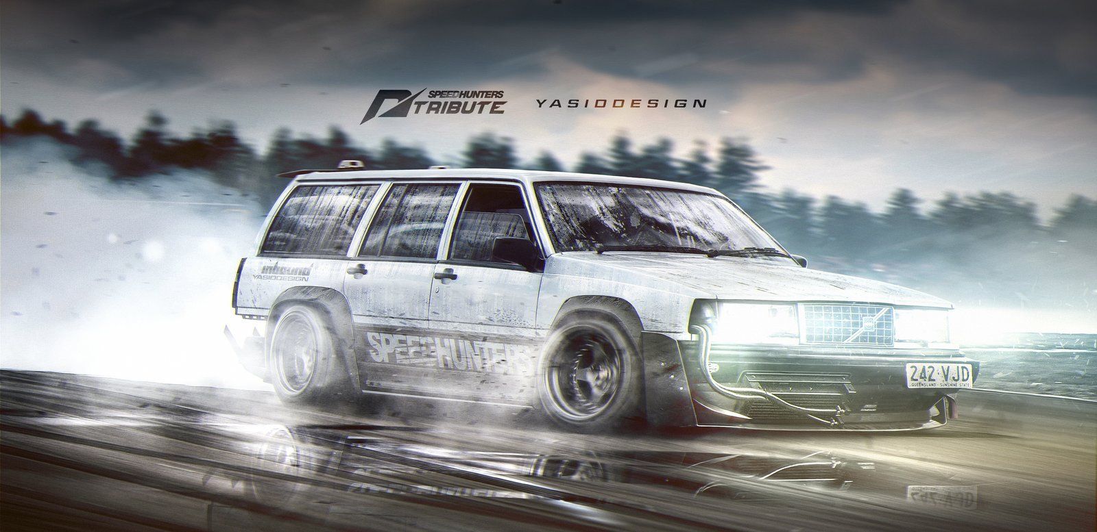 Speedhunters Volvo 940 - Need for speed tribute 2 Drift missile