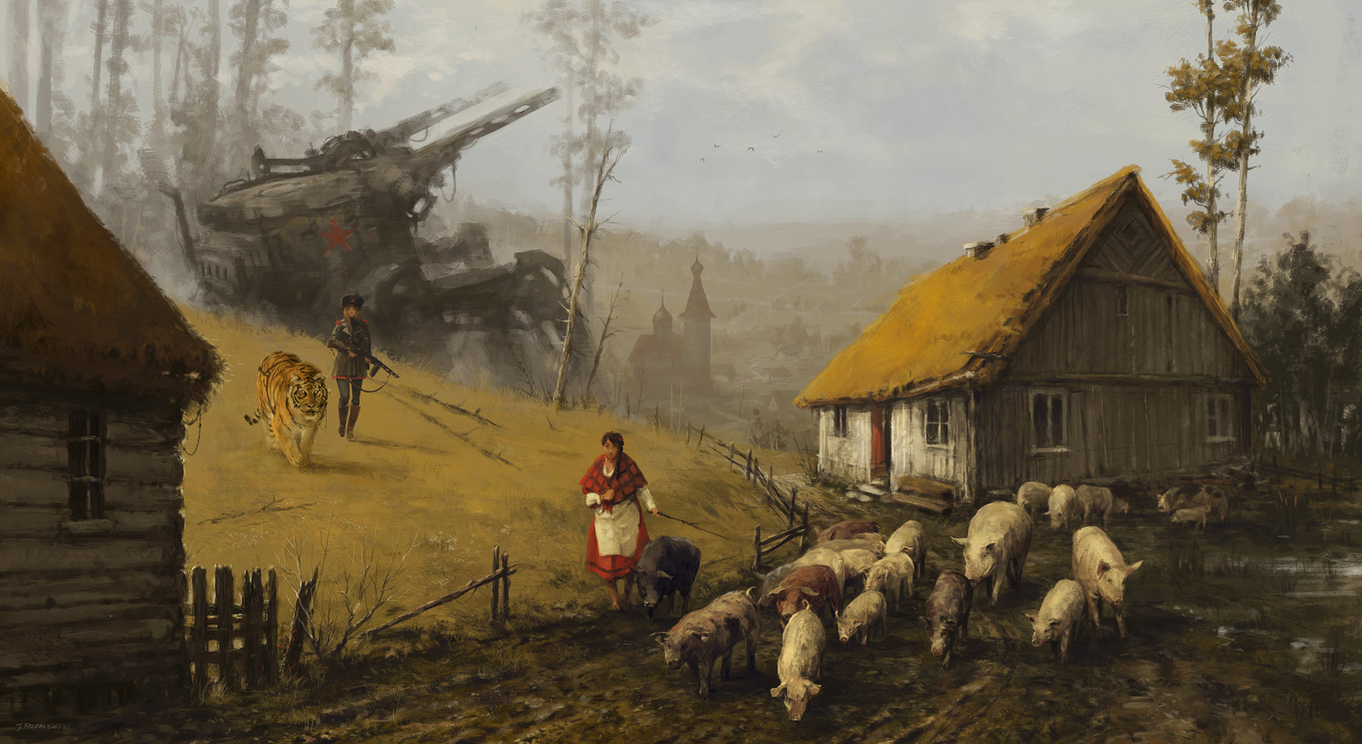Jakub rozalski 1920 strong temptation small