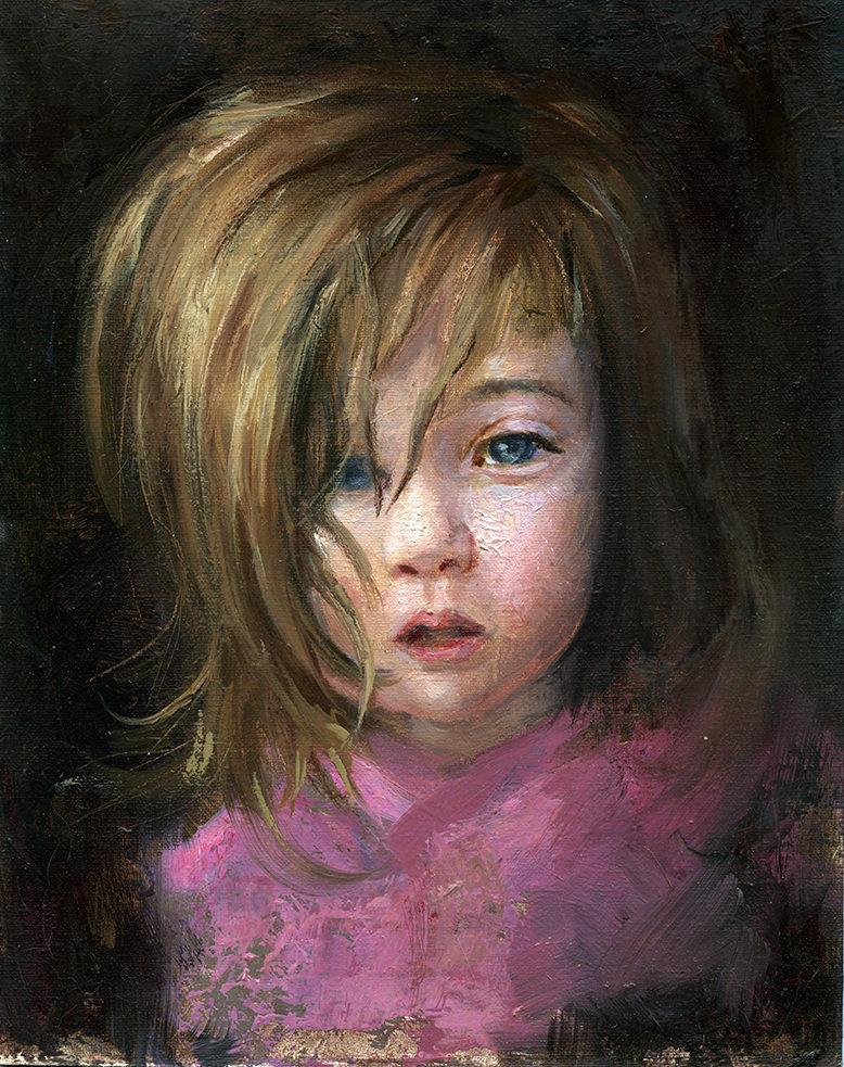 Scott altmann melanie oil sketch 778