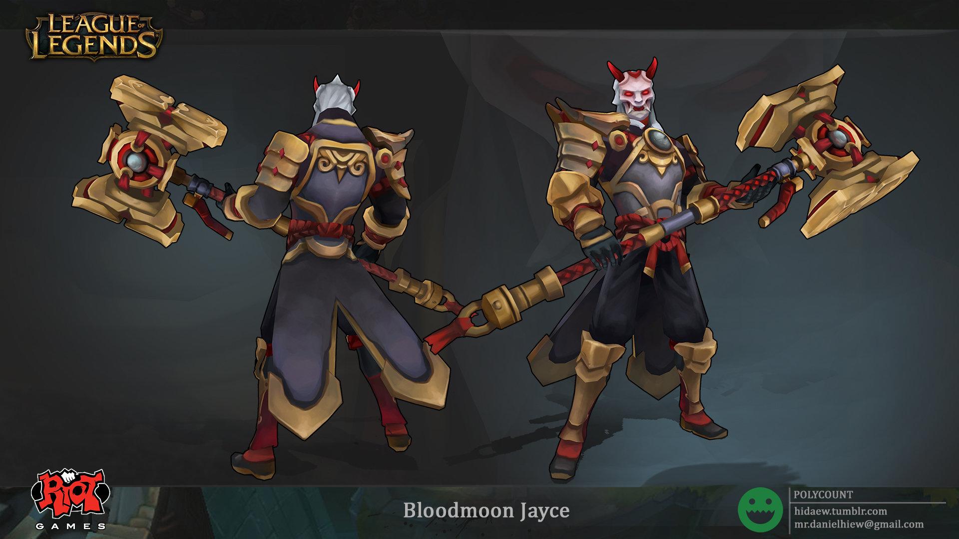 Hd wallpaper lol - Daniel Hiew Bloodmoon Jayce League Of Legends