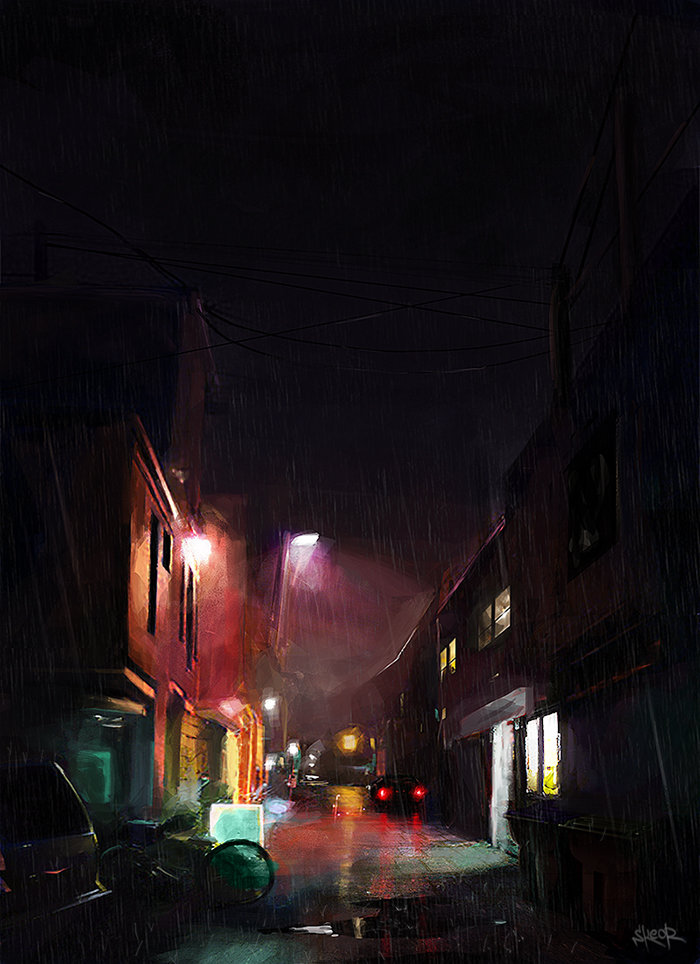 ArtStation - Dark alley, Tony Skeor