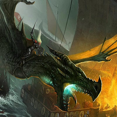 John mccambridge visenya on her dragon vhagar by johnmccambridge
