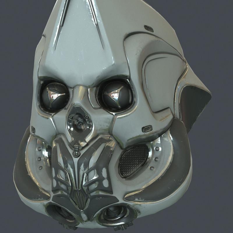 Scifi helmet - realtime