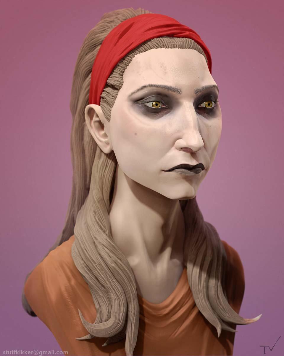 Thijs de vries gipsy portrait