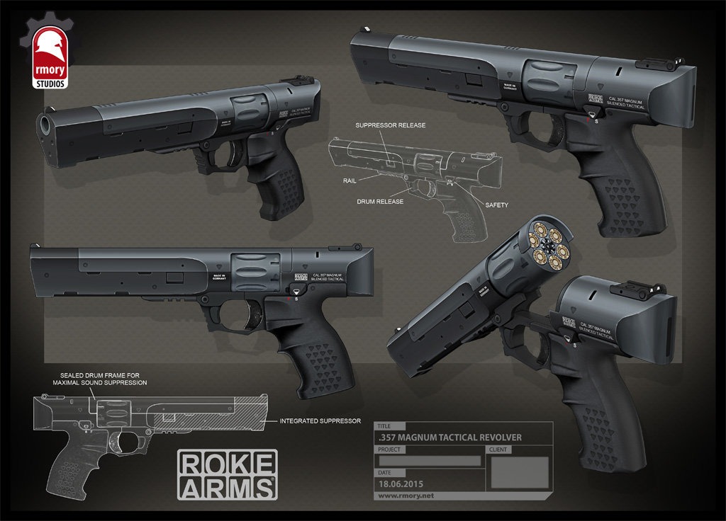 .357 Magnum Tactical Revolver by rmory studios