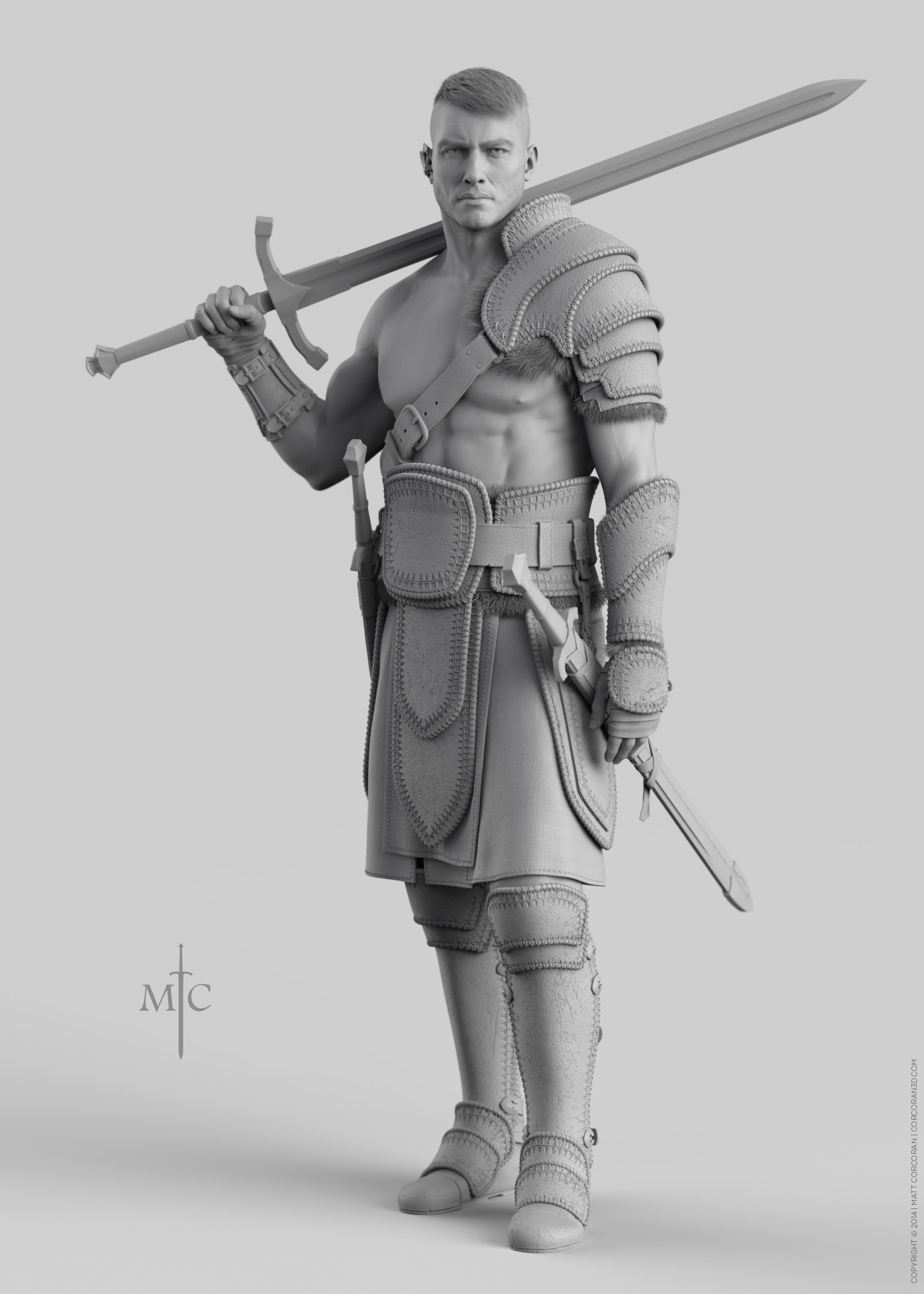 Matt corcoran mattcorcoran warrior grey 5x7 01
