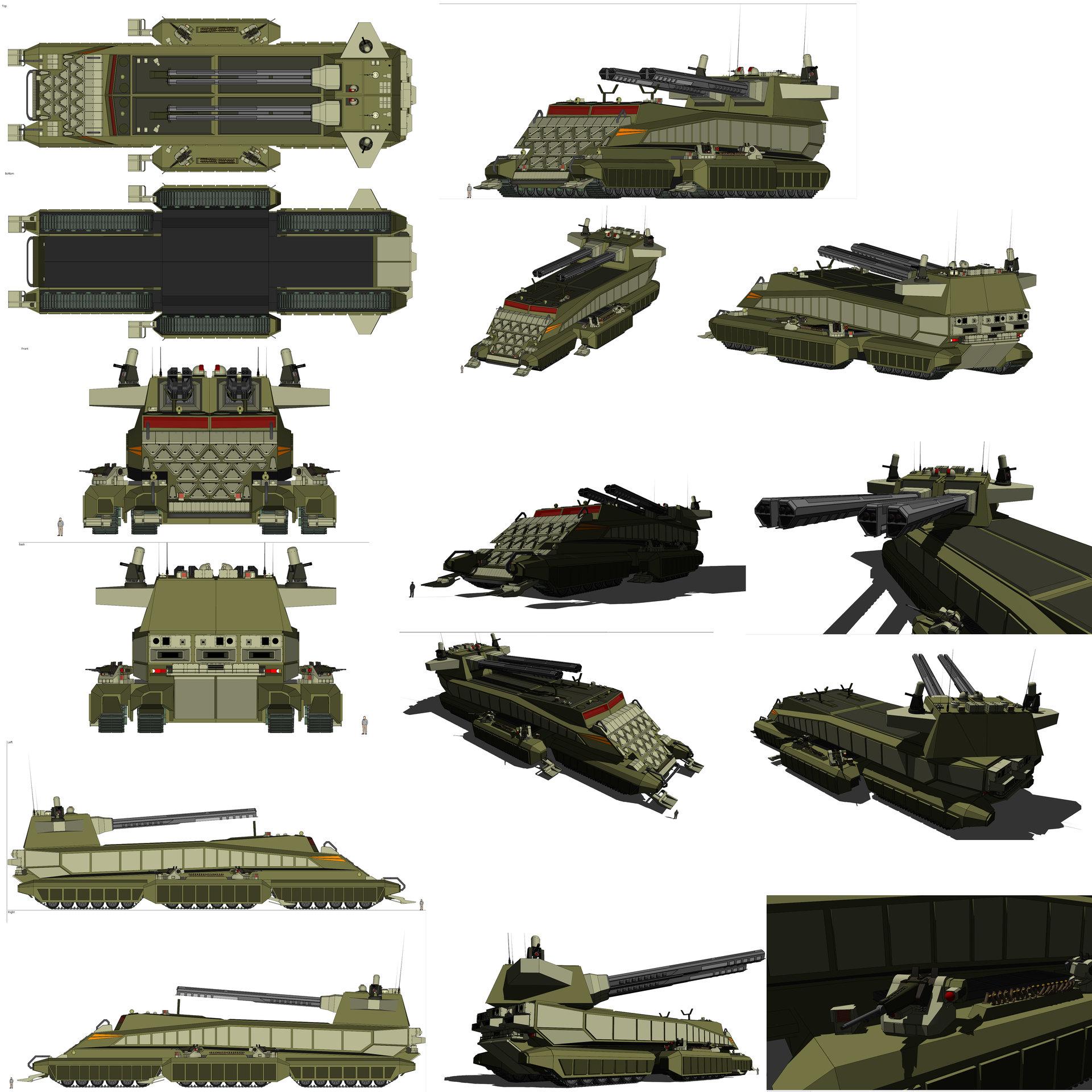 Cristian bruno mobile artillery base