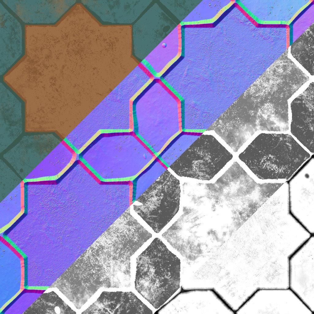 Textures : Base Color / Normal / Roughness / AO