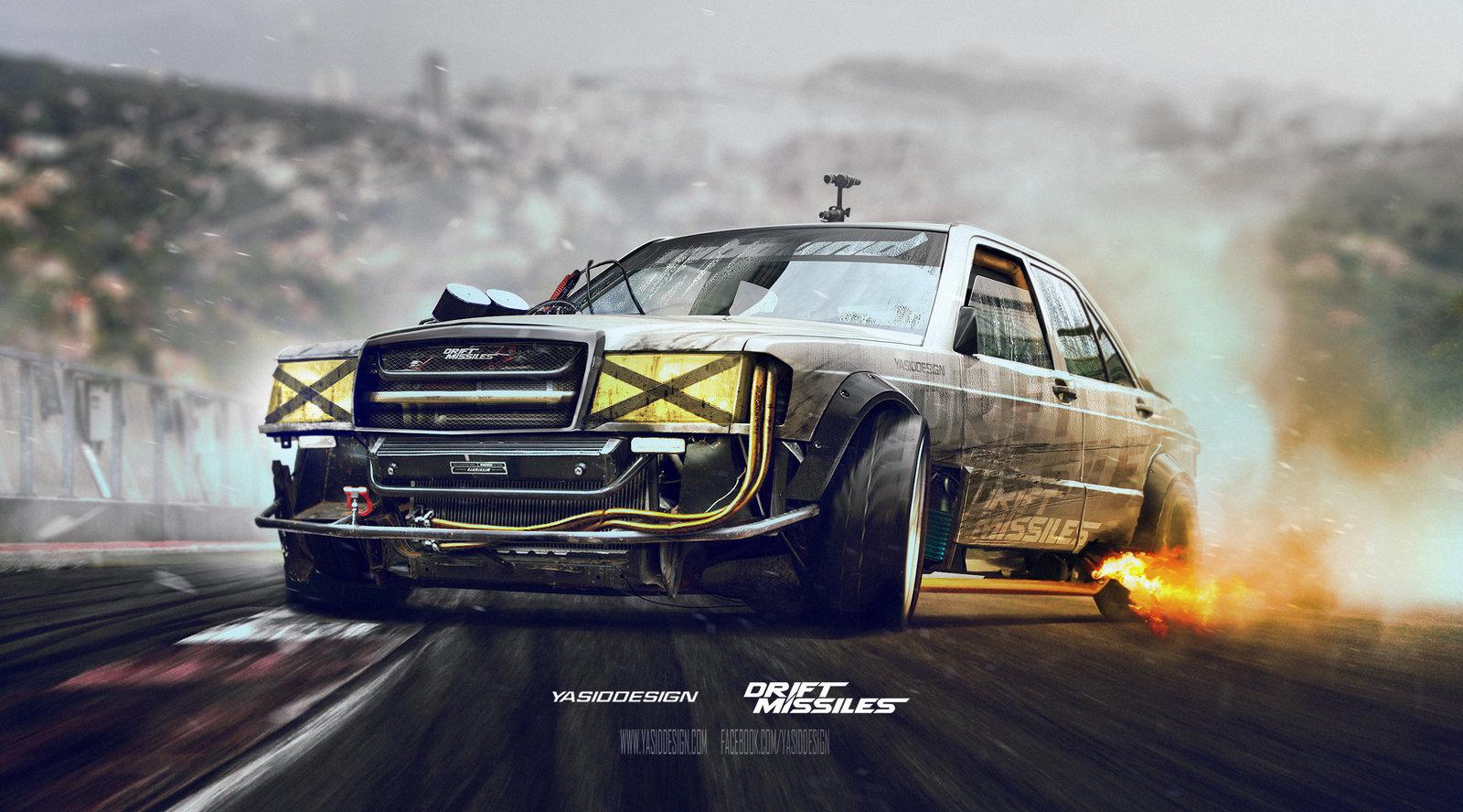 Drift missile Mercedes w201