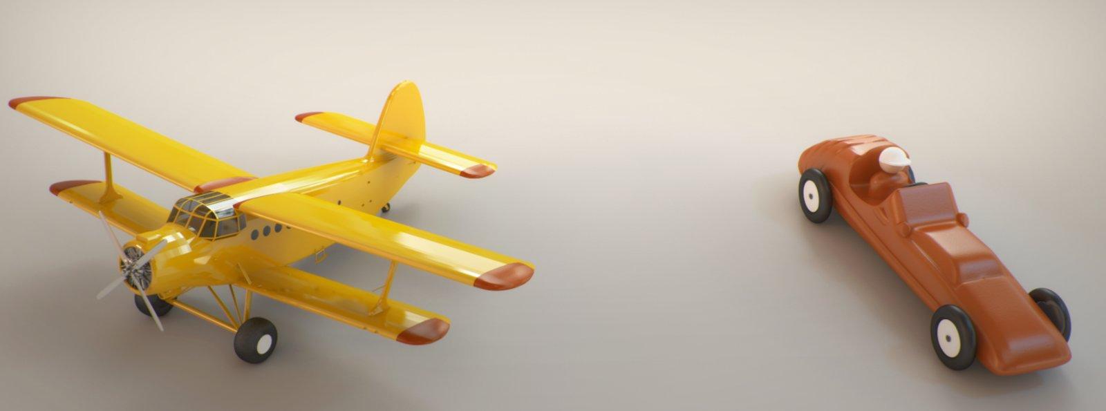 Toy studio render