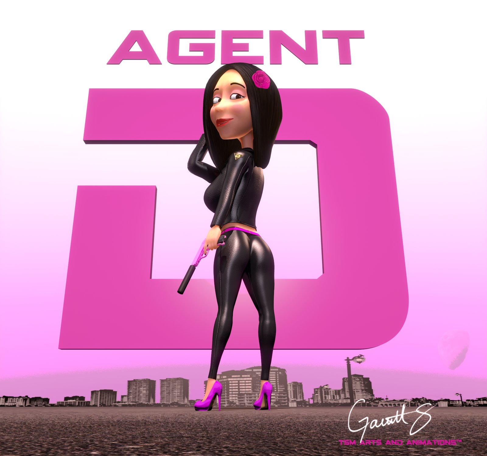 Agent D character poster