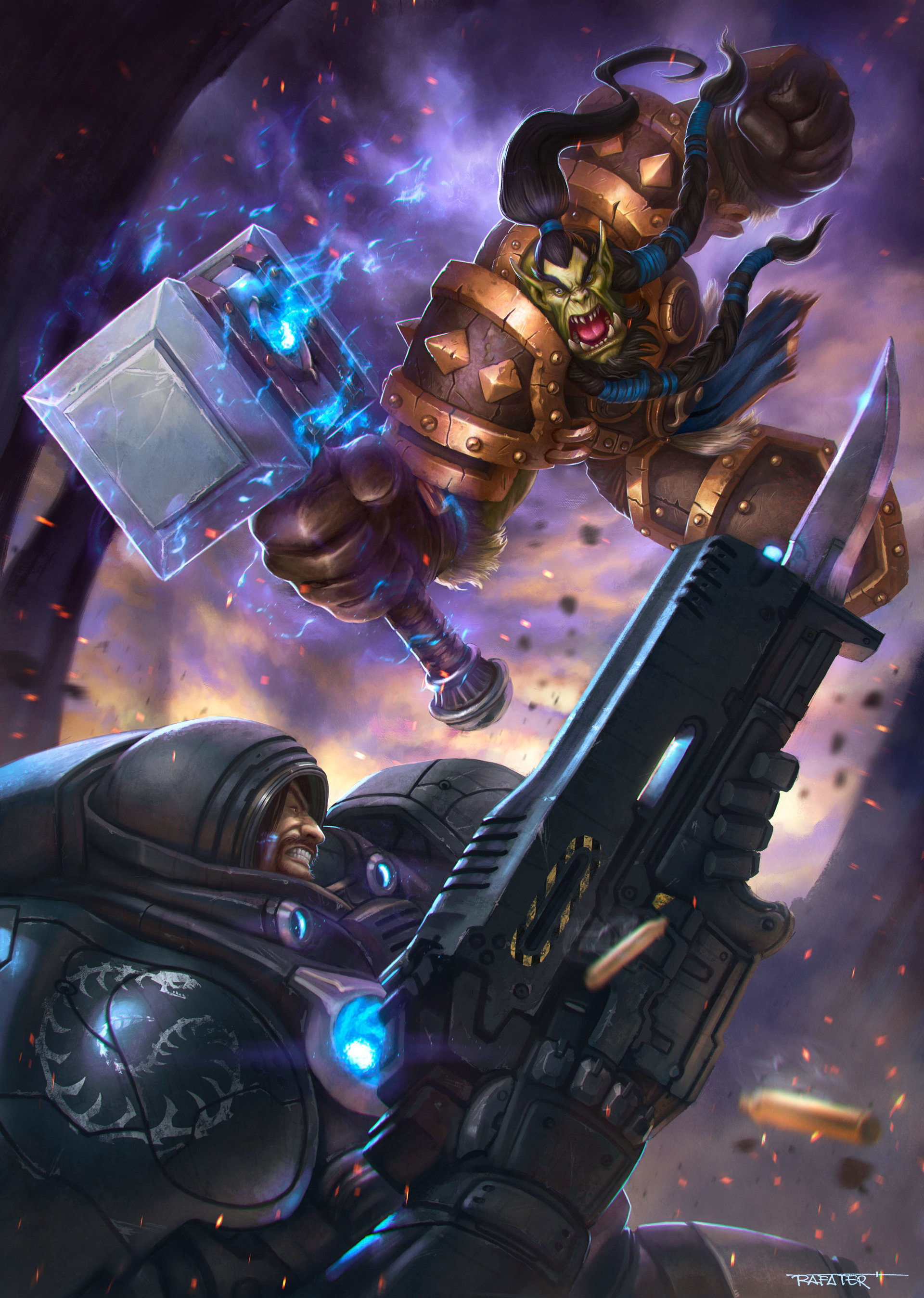 Rafael teruel heroes of the storm contest thrall raynor by rafater hi res