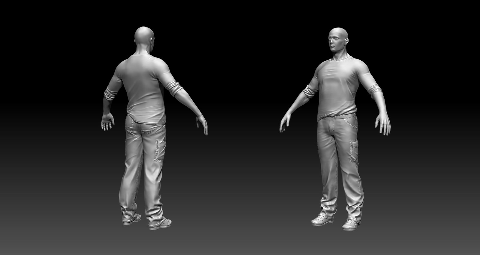 My human sculpt study