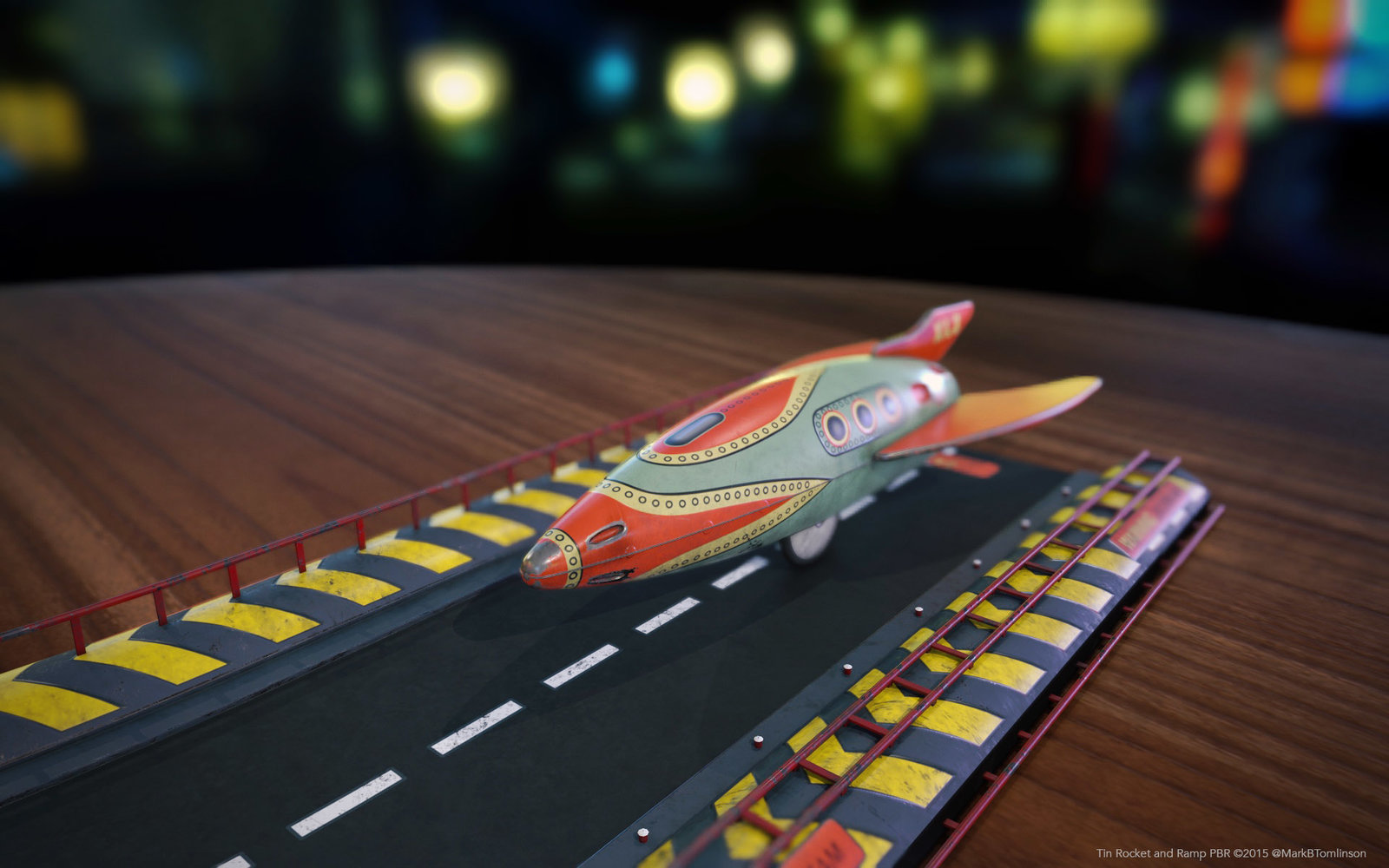 Toy Rocket and Ramp