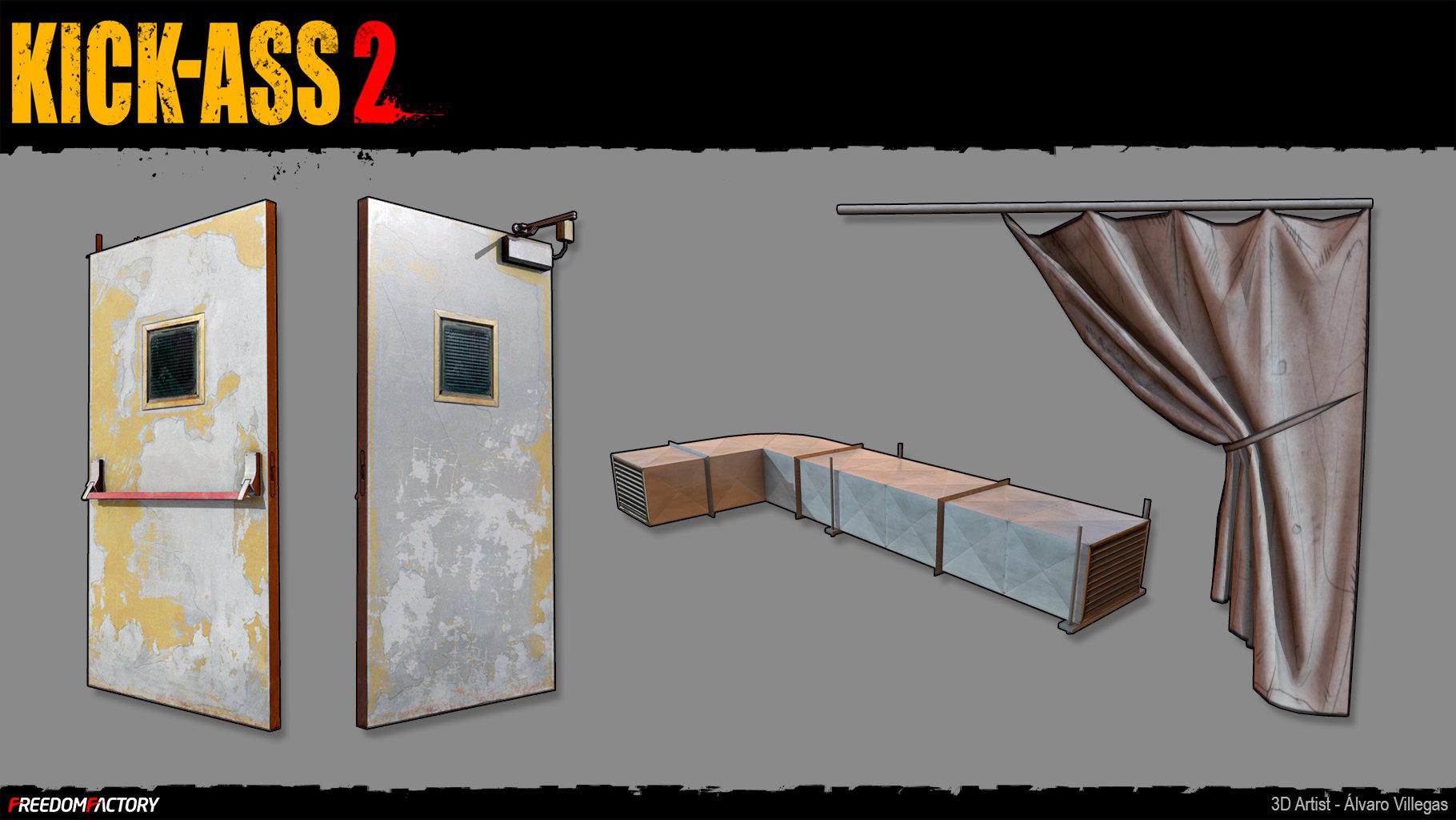 ArtStation - Kick-Ass 2: Basement props, Alvaro Villegas