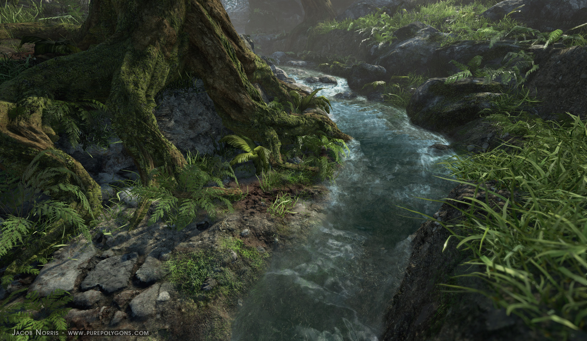 ArtStation - Procedural Nature Environment - [UE4], Jacob Norris