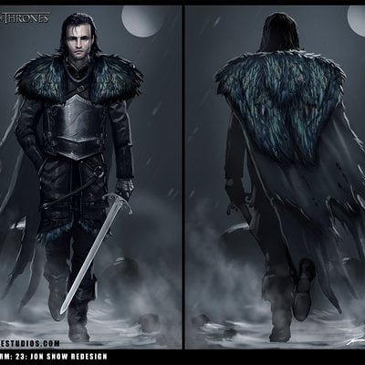 Travis lacey game of thrones concept art jon snow brainstorm redesign travis lacey
