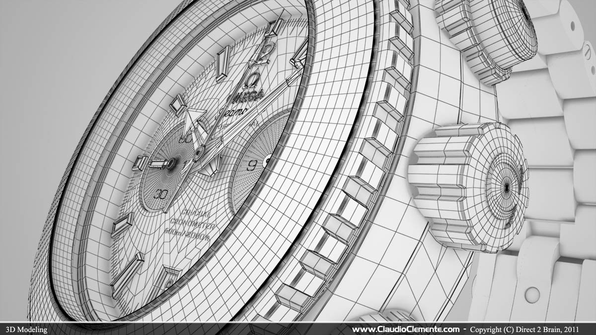 Claudioclemente 3d Characterartist Omega Seamaster Watch Tv Commercial Wiring Diagram Claudio Clemente Sh1 0125 Wire