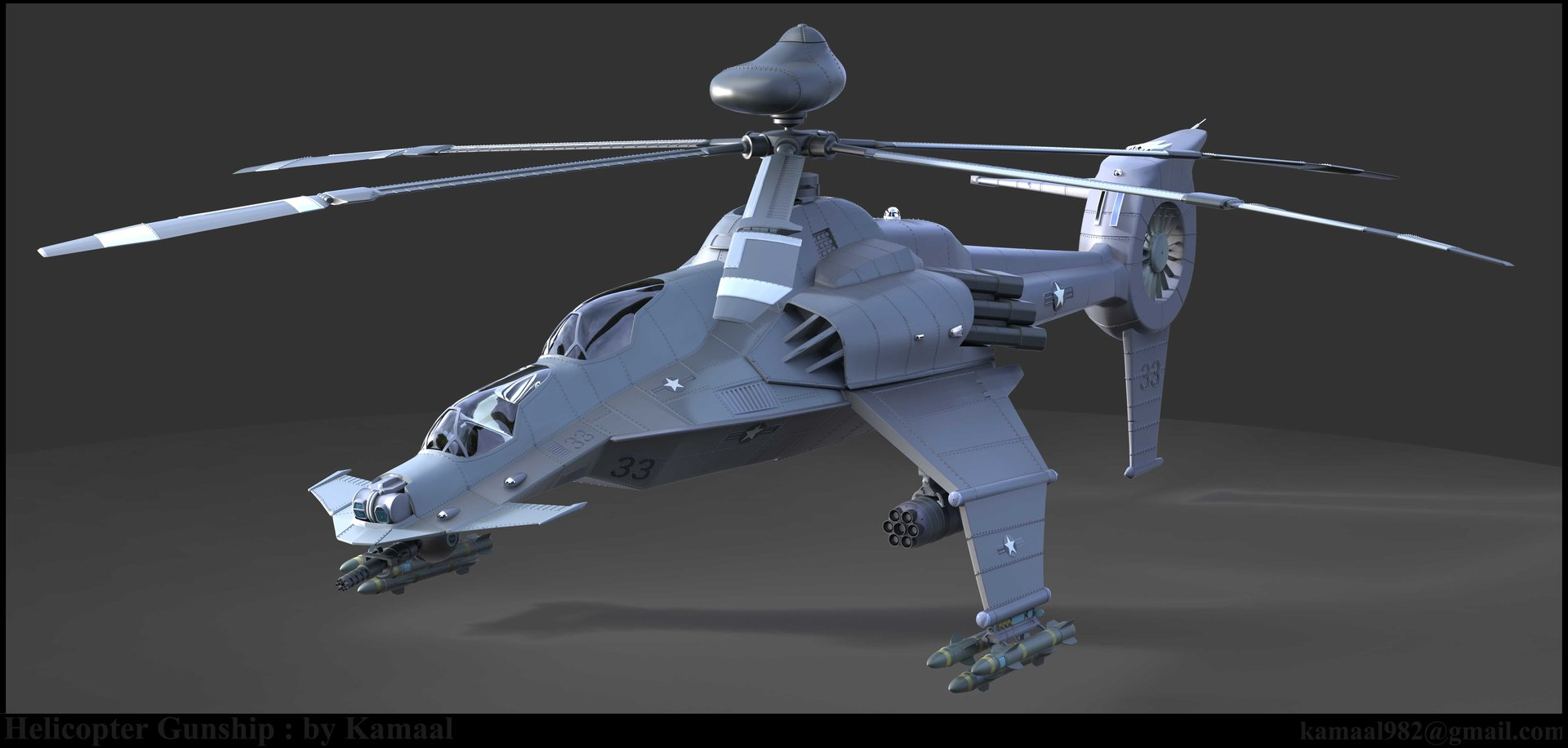 Kamaal H. Abraham - Helicopter Gunship