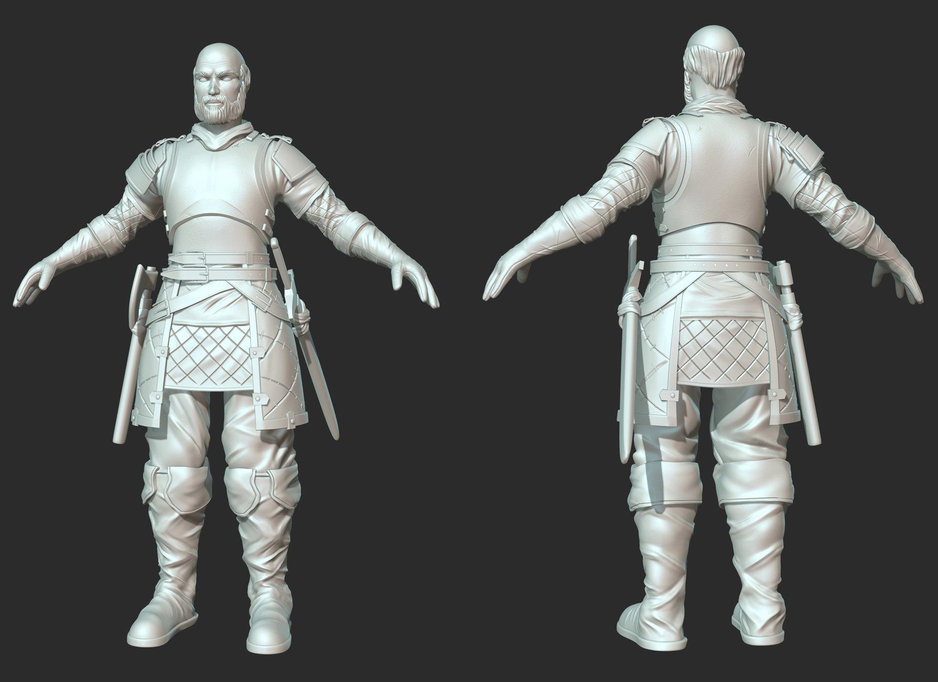 the Medieval Dude - Sculpt