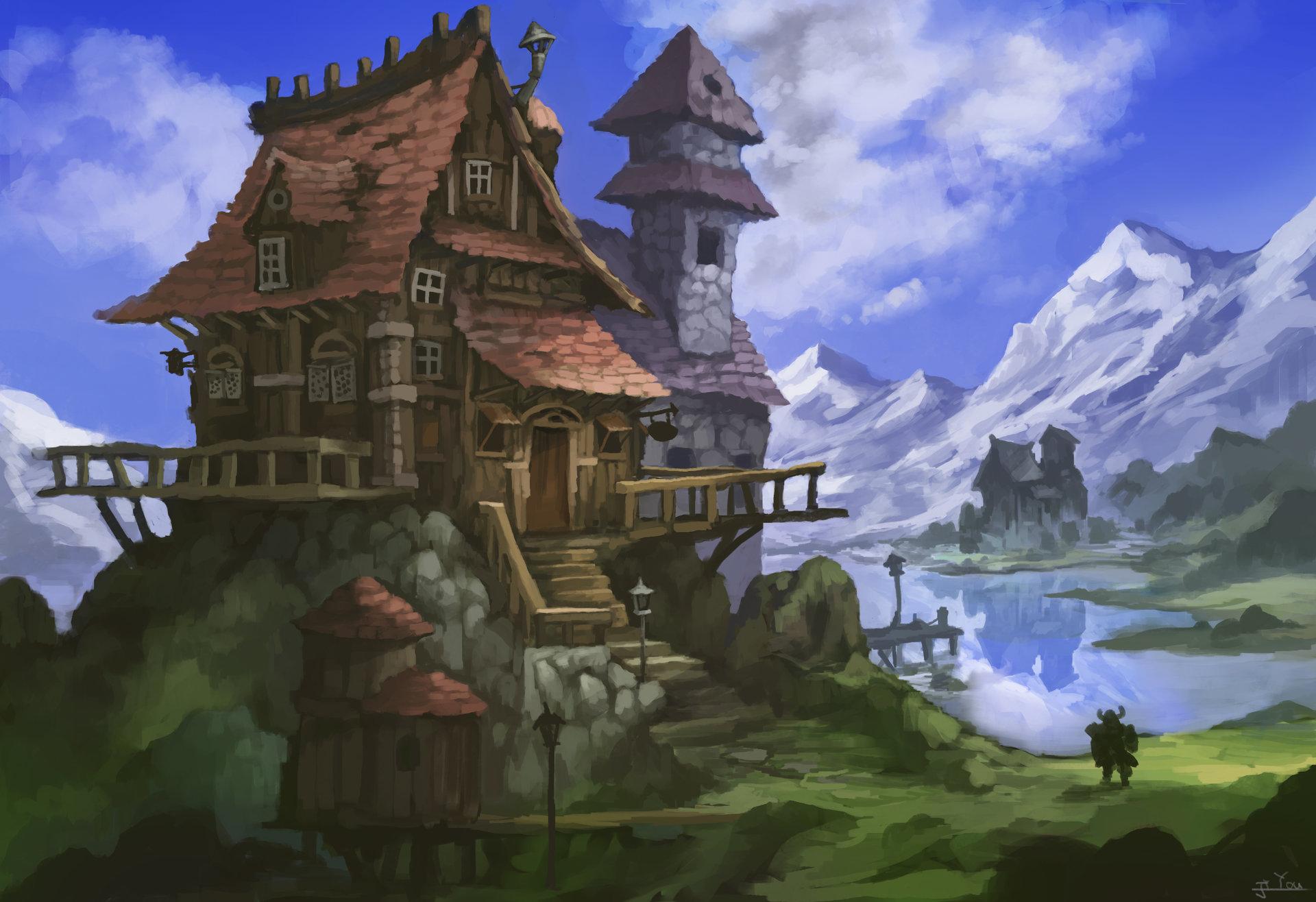 ArtStation - Dwarf house, ji you zhong