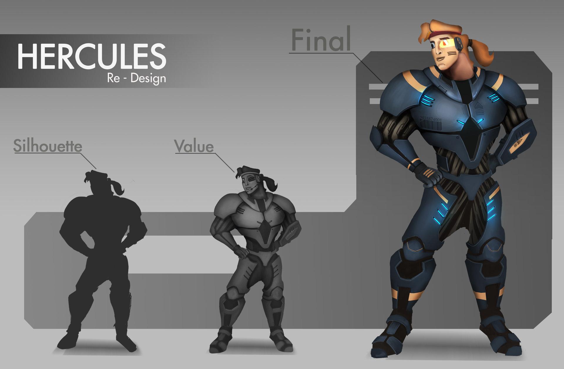 S E A D Hercules Disney Movie Re Design Sci Fi