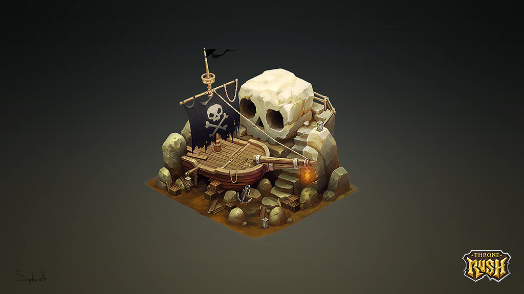 Isometric Pirate Island