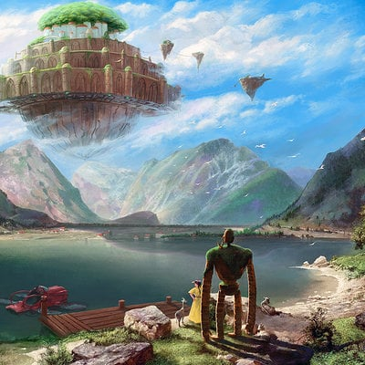 Oliver wetter laputa castle in the sky over achensee 1920x1200wp