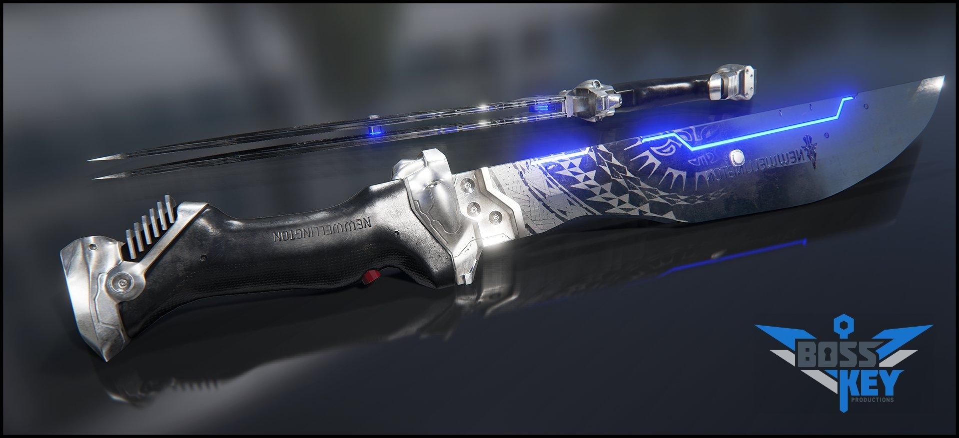 Boss key productions concept art depository taser machete 02 wm
