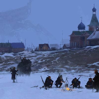 Jakub rozalski 1920 camp fire smallnew