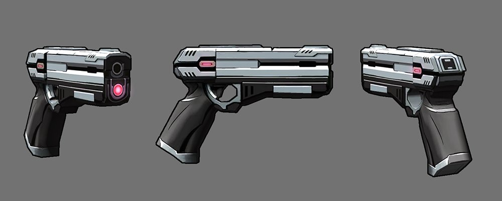 Jonathan Lauer Sci Fi Handgun