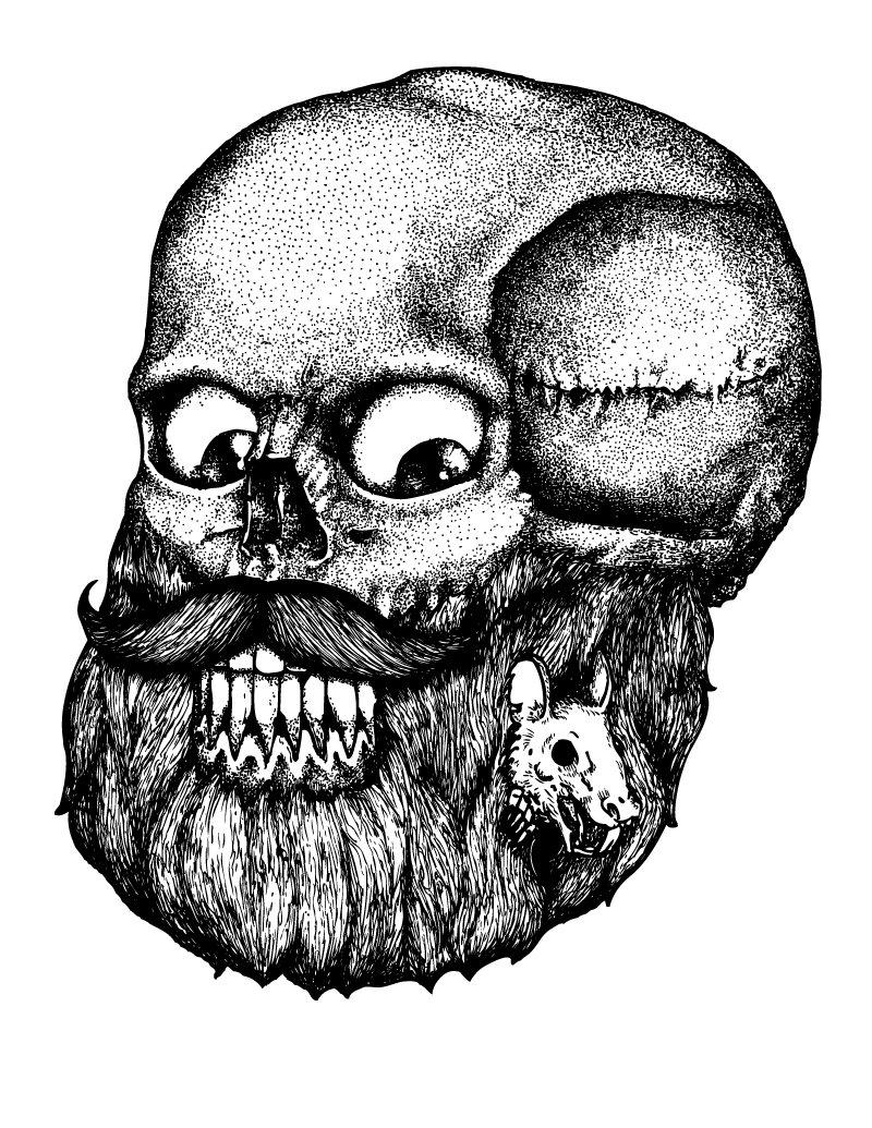 Altair araujo beardy ratty skull