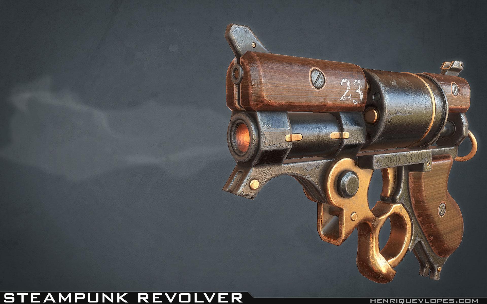 Henrique lopes steampunk revolver lp 02