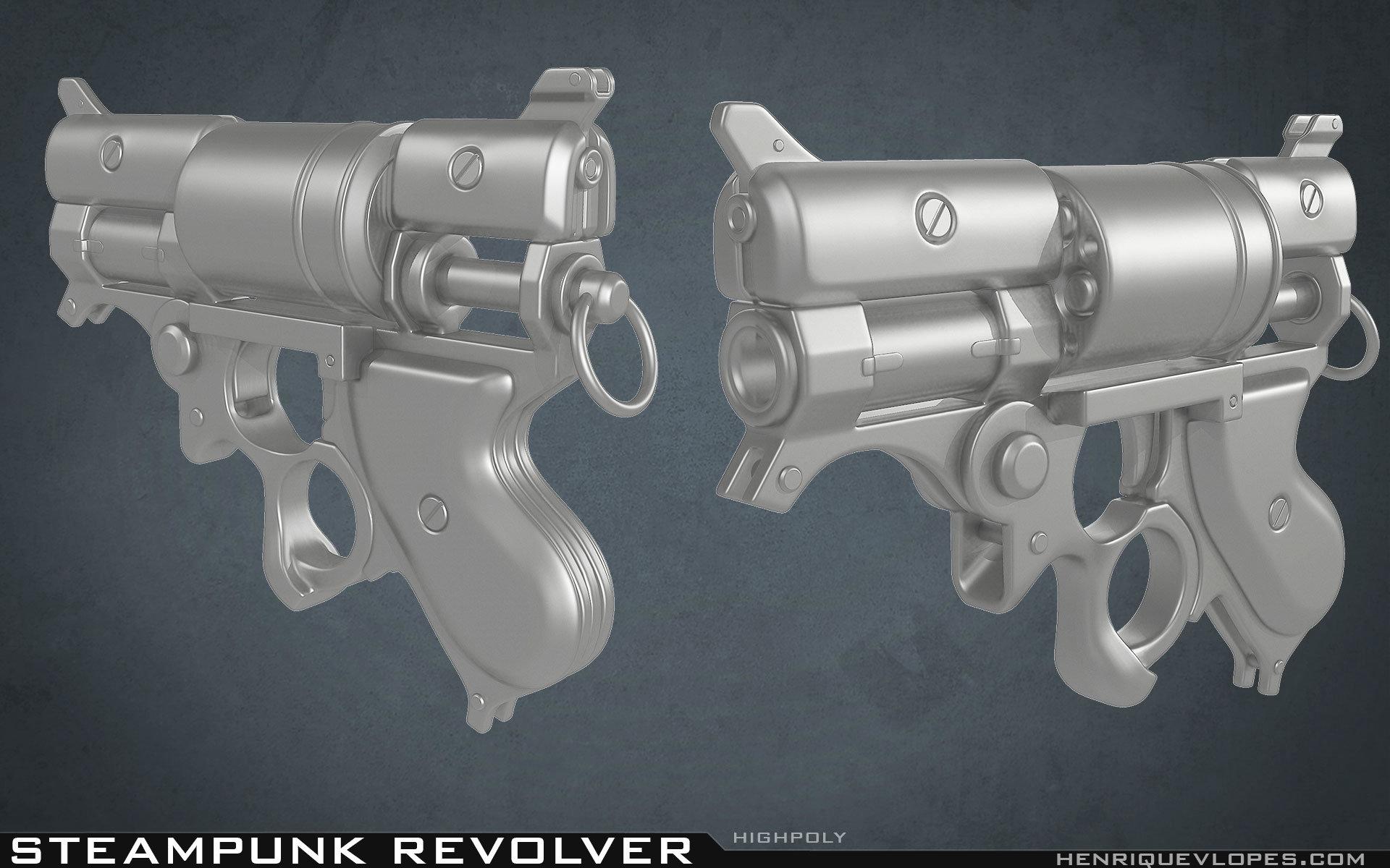 Henrique lopes steampunk revolver hp 02