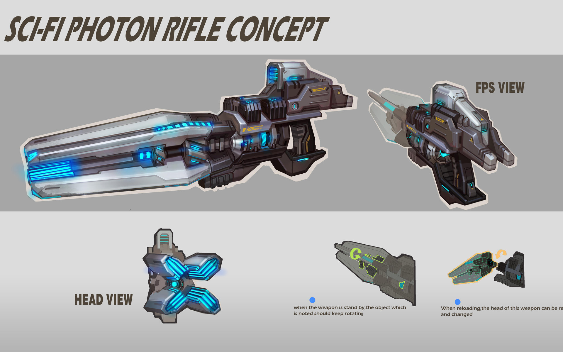Rock d sci fi photon rifle concept