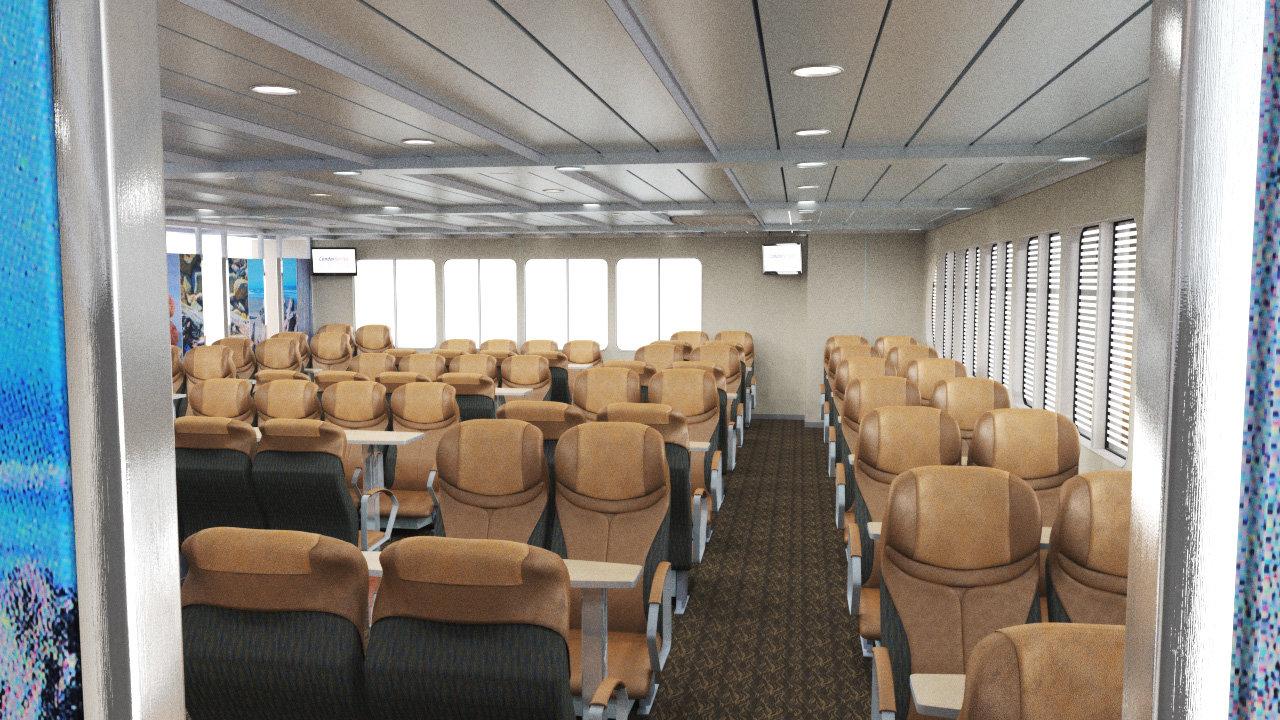 Adrian Baker Ferry Interior Re Design Visulisation